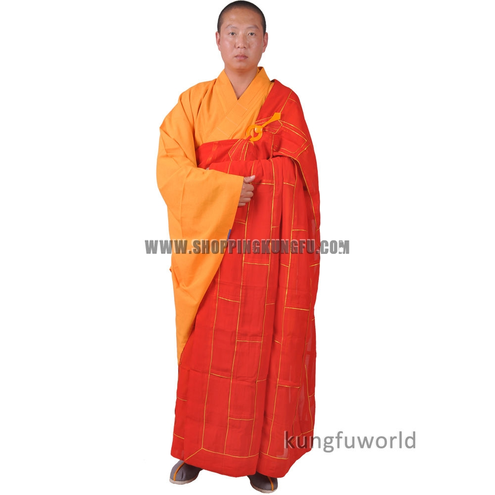 bbfbe1562 Shaolin Monk Dress Buddhist Kesa Priest Cassock Robe Meditation Kung fu Suit ,Buddhist clothes